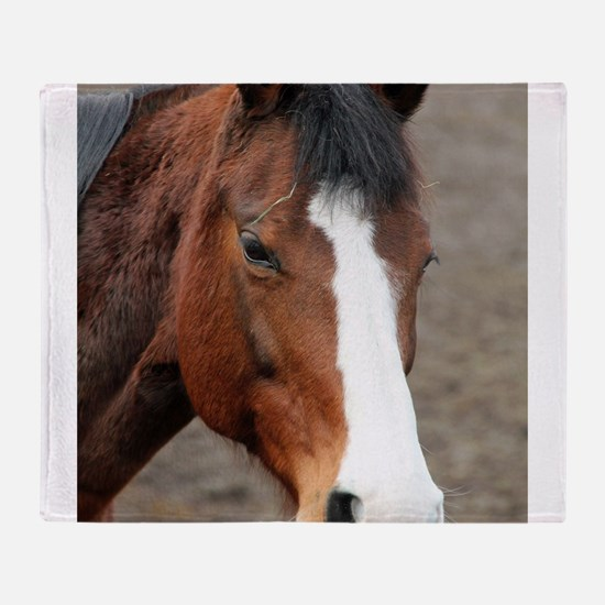 Cute Year of the horse Throw Blanket