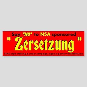 Zersetzung Bumper Sticker