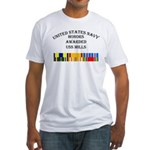USS Mills Fitted T-Shirt
