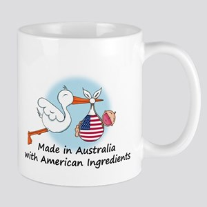 Stork Baby Australia USA Mug