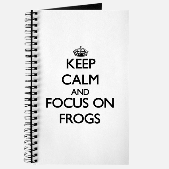 Cute Keep calm frog Journal