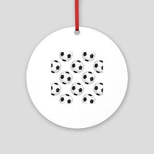 Soccer Balls Ornament (Round)