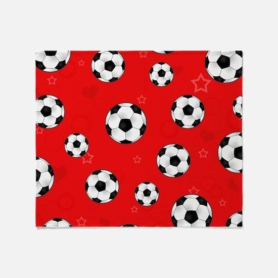Cute Soccer Throw Blanket