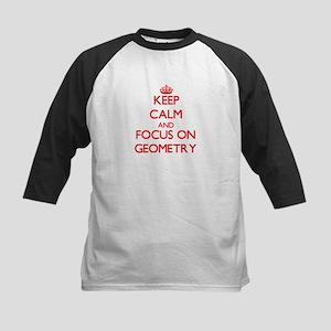 Keep Calm and focus on Geometry Baseball Jersey