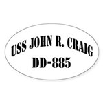 USS JOHN R. CRAIG Sticker (Oval)