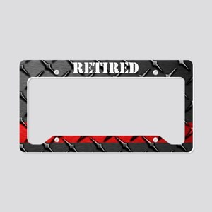 Fire And Rescue Diamond Plate License Plate Holder