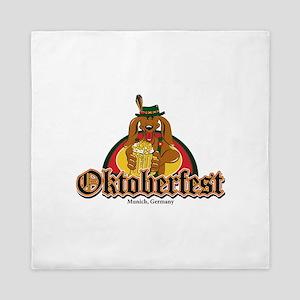 Oktoberfest Doxie Beer Queen Duvet