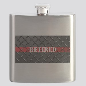 Retired Fire Fighter Flask