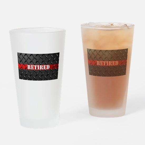 Retired Fire Fighter Drinking Glass