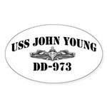 USS JOHN YOUNG Sticker (Oval)
