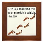 Soul Road Trip Framed Tile