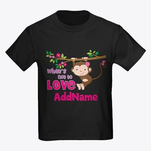 Whats Not to Love Personalized Kids Dark T-Shirt