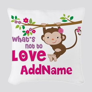 Whats Not to Love Personalized Woven Throw Pillow