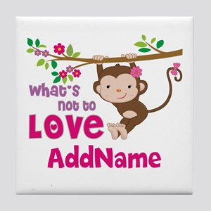 Whats Not to Love Personalized Tile Coaster