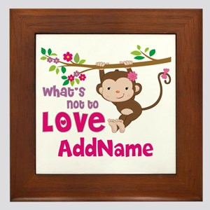 Whats Not to Love Personalized Framed Tile
