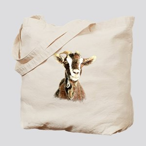 Watercolor Goat Farm Animal Tote Bag