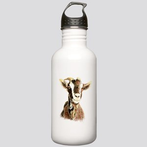 Watercolor Goat Farm Animal Water Bottle