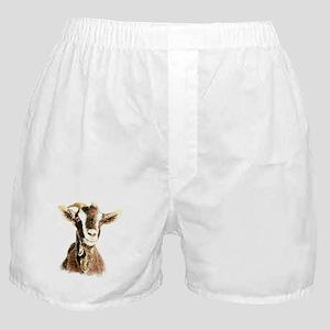 Watercolor Goat Farm Animal Boxer Shorts