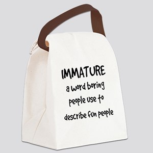 Immature Canvas Lunch Bag