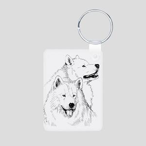 Samoyed Dogs Keychains