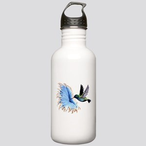 Hummingbird Blue Flower Water Bottle