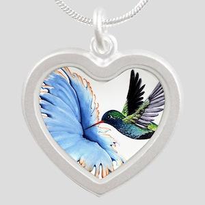 Hummingbird Blue Flower Necklaces