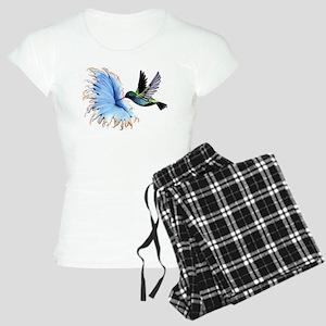 Hummingbird Blue Flower Pajamas