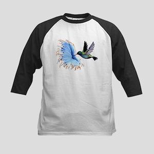 Hummingbird Blue Flower Baseball Jersey