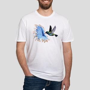 Hummingbird Blue Flower T-Shirt