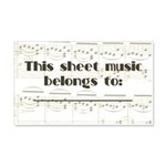Sheet Music Label Sticker