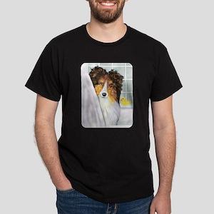 Sable Sheltie Bath Dark T-Shirt