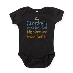 education is important, but big biceps are importa