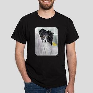 Bi Black Sheltie Bath Dark T-Shirt