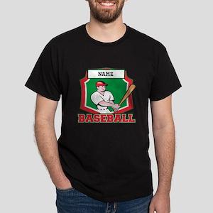 Custom Baseball Batter Dark T-Shirt