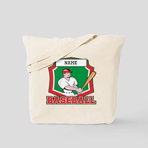 Custom Baseball Batter Tote Bag