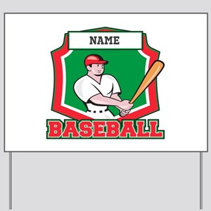 Custom Baseball Batter Yard Sign