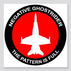 """ghost8 Square Car Magnet 3"""" x 3"""""""