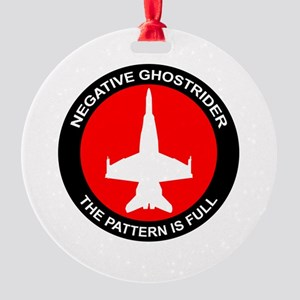 Ghost8 Round Ornament