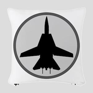 ghost3 Woven Throw Pillow