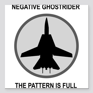 """ghost3 Square Car Magnet 3"""" x 3"""""""