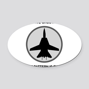 ghost3 Oval Car Magnet