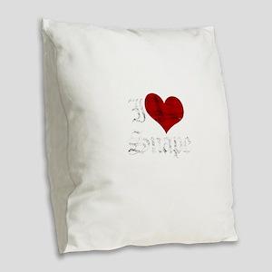 snape1 Burlap Throw Pillow