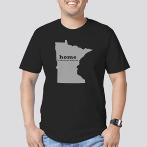 MN home is where my to Men's Fitted T-Shirt (dark)