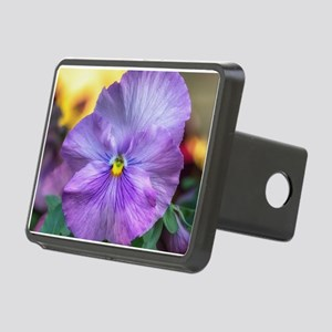 Lavender Pansy Rectangular Hitch Cover
