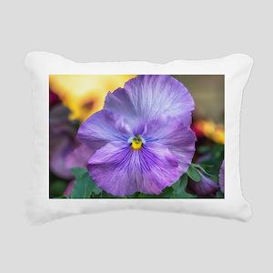 Lavender Pansy Rectangular Canvas Pillow