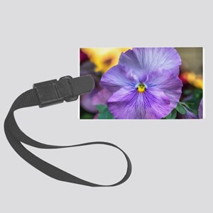 Lavender Pansy Large Luggage Tag