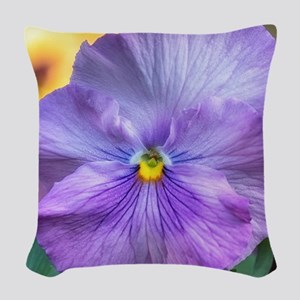 Lavender Pansy Woven Throw Pillow
