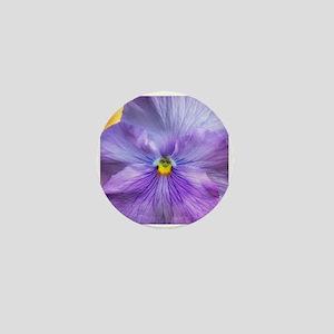 Lavender Pansy Mini Button