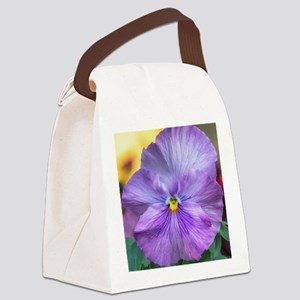 Lavender Pansy Canvas Lunch Bag