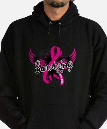 Surviving Since 2008 Breast Cancer Hoodie (dark)